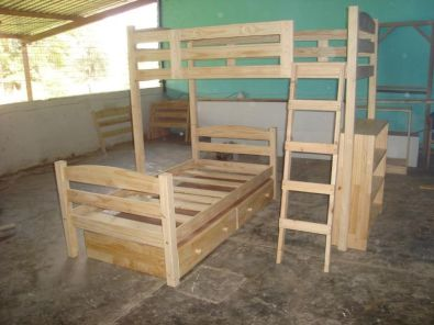 Bunk Beds Hand Made L - Shaped